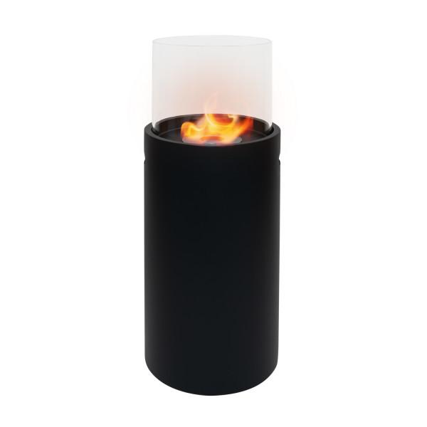 Ethanol Kamin 34 cm x 34 cm x 86,5 cm schwarz 1 Liter Edelstahl Ethanolbrenner