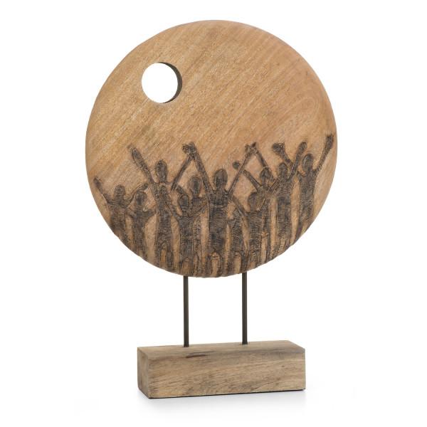 Moritz Skulptur massives Mangoholz Hoffnung - Handarbeit 55,5 x 39,5 x 9,5 cm 3400 g.…