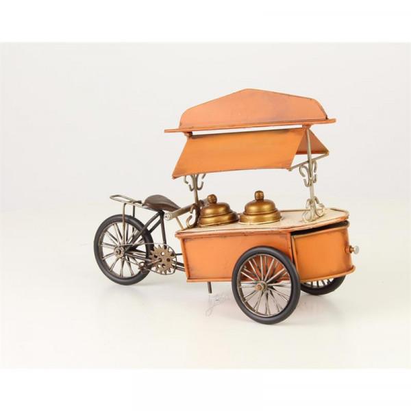 Eisverkäufer Eiscream Fahrrad Eismann Oldtimer Modell Metall Zinn Dekoration