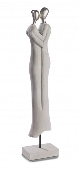 Skulptur Nähe Mangoholz/Alu Handarbeit 64,5x14x9 cm FFG-2121