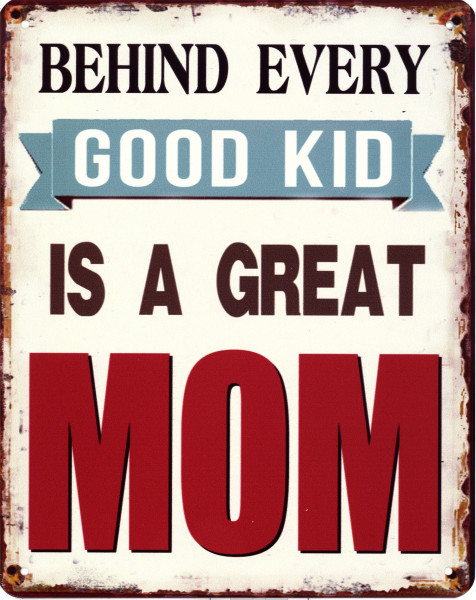 Blechschild 1988 Good Kid Great Mom 20 x 25