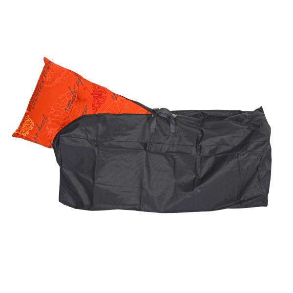 Premium Schutzhülle 125 x 32 x 50 cm schwarz für Stuhlkissen Sitzkissen mit Reißverschluß wasserdich