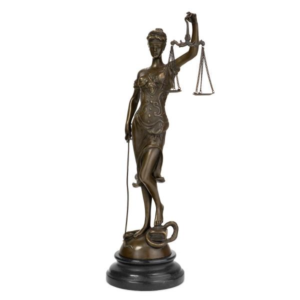 Statue Bronze Justitia 40 cm Symbol Figur Sinnbild Gerechtigkeit Skulptur Kanzlei Gericht Anwalt Ric
