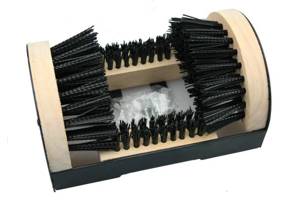 Robuster Schuhputzer mit Rundum-Bürste für Gartenschuhe, Arbeitsschuhe, Gummistiefel, Wanderschuhe u