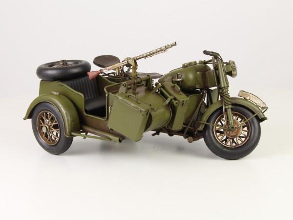 Modell Armee Mototrrad Beiwagen MG 26,1 x 36,1 x 16 cm