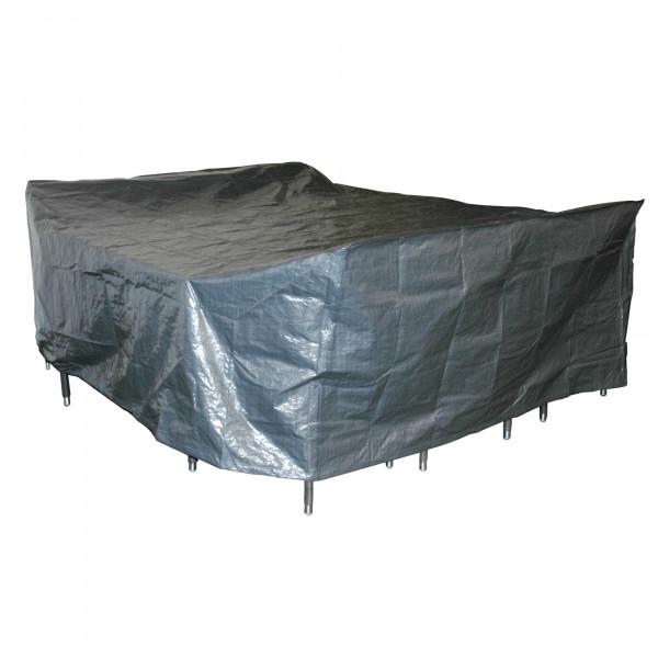 Schutzhülle 300 x 250 x 80 cm grau für Sitzgruppe groß 300 x 250 x 80 cm Gartenmöbel Schutz Schutzfo