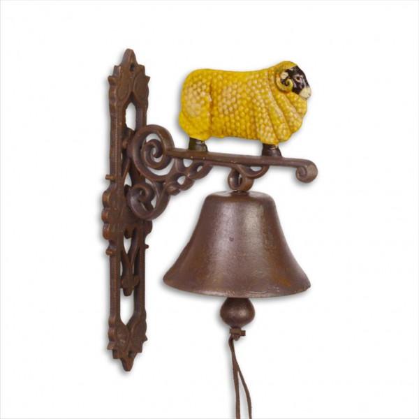 Türglocke Glocke Bock Ziege Steinbock Gußeisen Antik Stil Retro Schelle Klingel