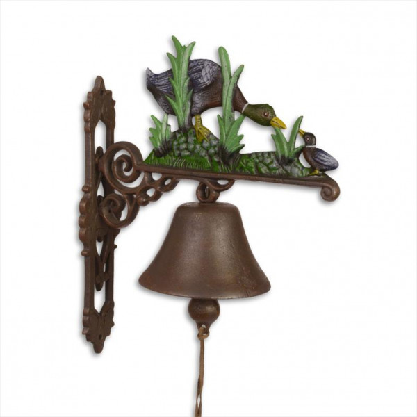 Türglocke Glocke Ente Gusseisen Antik Stil Retro Schelle Entenfamilie Klingel