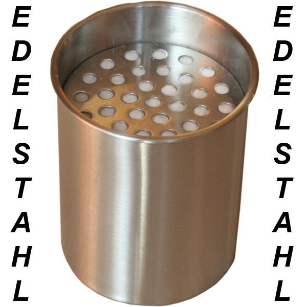 Edelstahl Dose 0,45 l NEU Bio Ethanol EdelstahldoseEdelstahl Dose 0,45 mit Wolle