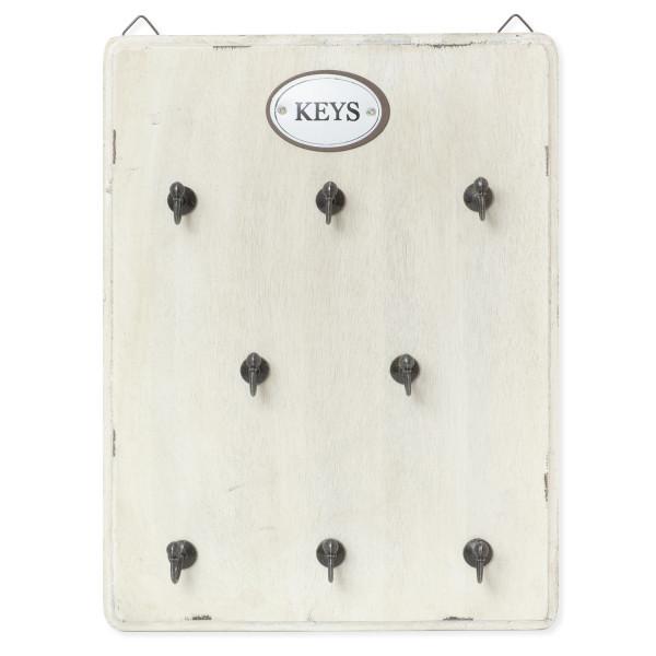 Schlüsselbrett weiß 8 Haken AL-188-W