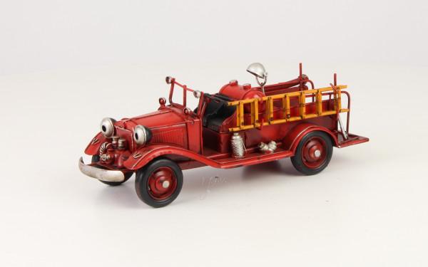 Moritz Design Zinn Modell Feuerwehr Truck Feuerwehrauto 9,6 x 26,5 x 9,9 cm Metall Auto kein Spielze