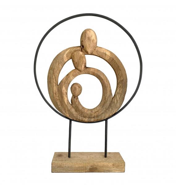 Skulptur Figur 39x10,5x55cm Familie Kreis Family Zusammenhalt Geschenk Dekofigur