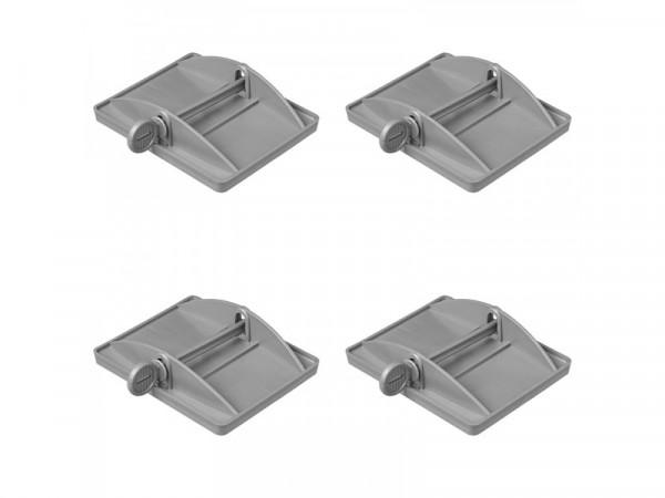4x XL Stützplatten für die Eckpfosten Bietet zusätzliche Stabilität für Wohnwagen, Wohnmobile und Ca