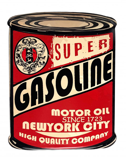 Blechschild Super Gasoline New York City