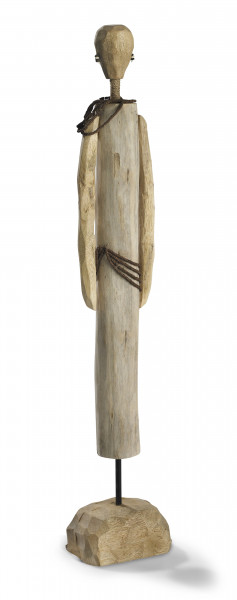 Moritz Skulptur Afrikaner African Girl 69,5 x 13 x 9 cm Mangoholz Holz handarbeit